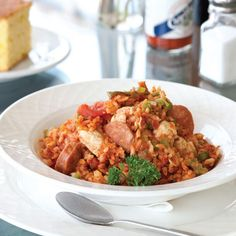 This Chicken and Sausage Jambalaya from New Orleans's Cafe Reconcile is hard to beat.