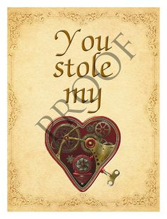 Items similar to Steampunk Heart Valentine's Day Wedding Proposal Custom Wine or Spirits Label or Digital File on Etsy Steampunk Heart, Wedding Wine Labels, Valentines Day Weddings, Proposal, Wedding Day, Unique Jewelry, Handmade Gifts, Etsy, Pi Day Wedding