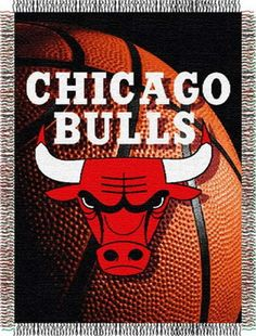 Chicago Bulls NBA Photo Real Tapestry Throw for $29.99 at bedding.com  #Chicago #bulls #nba
