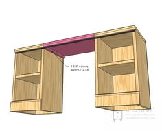 Ana-White plans for a little vanity/desk. Would be perfect for the ...