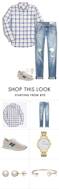 """Soft Blues"" by sc-prep-girl ❤ liked on Polyvore featuring J.Crew, rag & bone, Kate Spade, Honora and Letters By Zoe"