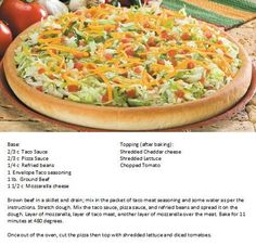godfathers taco pizza recipe | Godfathers Taco Pizza | For the Home/Recipes