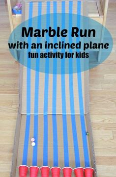 Marble run with inclined plane