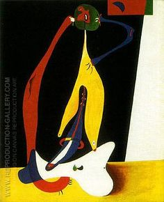Seated Woman 1932 By Joan Miro