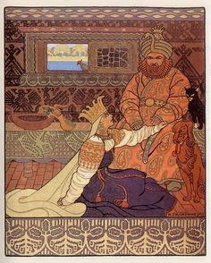 Иллюстрация к былине «Вольга». Царь и Царица-1903 г.