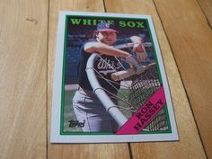 1988 Topps Card #458 RON HASSEY