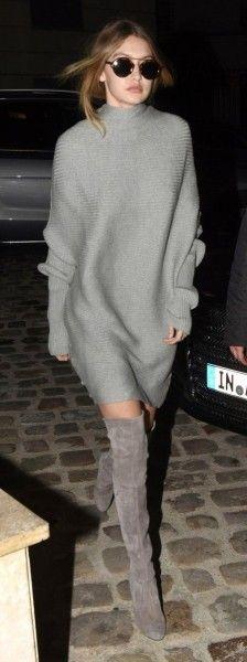 свитер платье оверса
