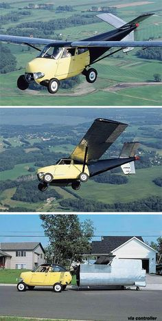 Old-fashioned flying car