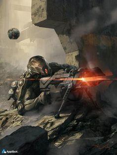 Calvin Sniper II, Aleksi Briclot on ArtStation at http://www.artstation.com/artwork/calvin-sniper-ii