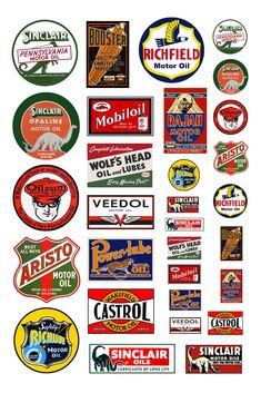 Vintage Advertisements, Vintage Ads, Vintage Signs, Funny Vintage, Carros Vintage, Toy Garage, Car Signs, Old Gas Stations, Road Trip With Kids