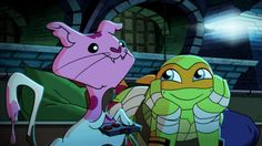 Tmnt blast to the past was so cute even ice cream kitty