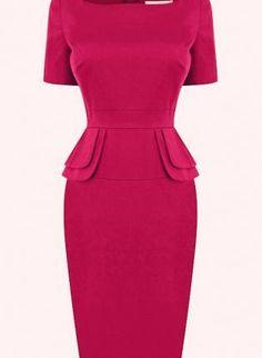 Starry Peplum Dress Rose,  Dress, sexy chic dress lady, Chic