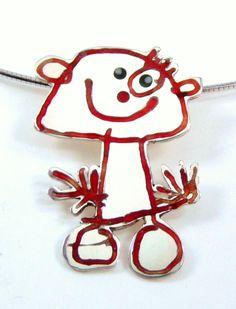 Atelier 't Goudvinkje - #goudsmid: op verzoek gemaakte #hanger, gemaakt op basis van #kindertekening