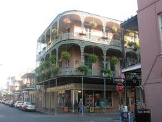"""""""Yes, it is that beautiful."""" St. Philip Street at Royal Street, French Quarter, New Orleans."""