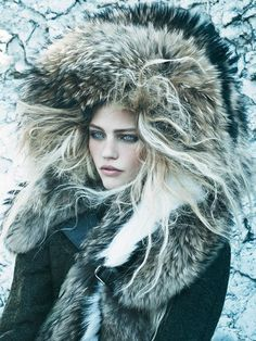The Vogue US September 2014 Call of the Wild Photoshoot is Frigid #avantgarde #winter trendhunter.com