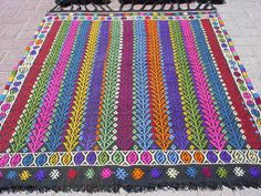 VINTAGE Turkish Kilim Area Rug Carpet Handwoven Kilim di sofART, $179.00