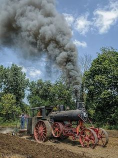 Steam Traction Engine by Leonard Donaldson Antique Tractors, Vintage Tractors, Old Tractors, Vintage Farm, Old Farm Equipment, Heavy Equipment, Lanz Bulldog, Steam Tractor, Classic Tractor