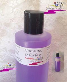 Monomero bajo en olor... No contiene MMA... Monomer Odorless No MMA No Yellow, No Lift, Color Stable... Compatible con todos los Acrilicos...Good for All Seasons...