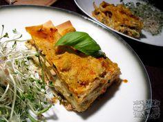 Zucchini Lasagna with smoked tofu and mushrooms