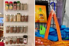 Or display your spices on a pull-down rack so all your go-to blends are always right at your fingertips. Medicine Cabinet Organization, Organization Hacks, Organize Medicine, Medicine Cabinets, Organizing Ideas, Rv Camping Tips, Camping Products, Cleaning Products, Cleaning Hacks