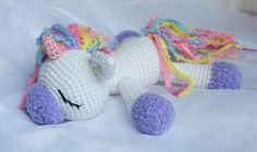 Sleeping unicorn pony crochet pattern free