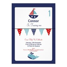 Boy's 1st Birthday Nautical Invitation today price drop and special promotion. Get The best buyDiscount DealsHere a great deal...