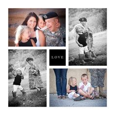 Sweet military family collage.