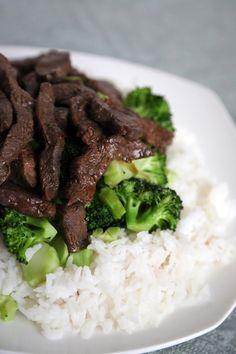 broccoli met vlees en rijst
