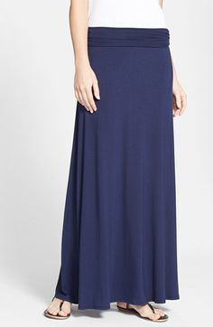 Bobeau Ruched Waist Side Slit Maxi Skirt (Regular & Petite) available at #Nordstrom