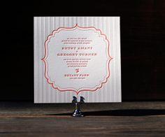 Letterpress Wedding Invitations | Simple Frame Design | Bella Figura Letterpress
