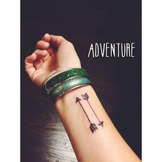 I don't make resolutions, I make yearly bucket lists. This one didn't get crossed off in 2014 so it was the first to do in 2015. The arrows represent travel, and adventures, both past and future. #adventure #travel #arrow #theballcamp
