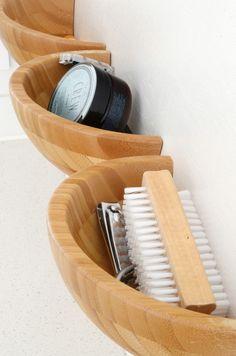 Easy DIY Wooden Half Bowl Storage