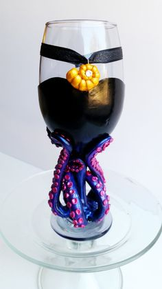"Stunning Ursula wine glass. The perfect gift for that ""The Little Mermaid"" villain loving, beautiful voice stealing fan in your life!"