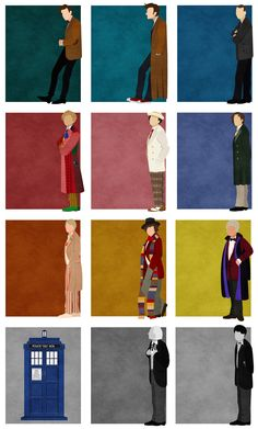 The Doctors (Doctor Who) (http://www.reddit.com/r/doctorwho/comments/1kpjbq/finally_finished_my_vector_not_minimalist_tribute/)