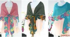 Cardigan crosetat manual; tutorial cu poze si explicatii Crochet Triangle, Tassel Necklace, Shawl, Tassels, Blog, Handmade, Cardigan, Diana, Fashion