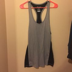 Racer back tank top Grey and black racer back tank. Never worn Champion Tops Tank Tops