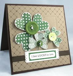 Anniversary on St. Patrick's Day.  Want to make a bigger version of this with husband's boutonniere and wedding pictures.