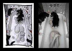 Catwoman Bath. Denis Medri: 50's Catwoman (50's Rockabilly Batman) LadyLomax. | LADY LOMAX  #COSPLAY