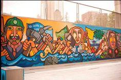 Los muralistas chilenos de las BRP que desafiaron a Pinochet Latin America, Medium Art, Street Art, Painting, Walls, College, American Art, World, Santiago