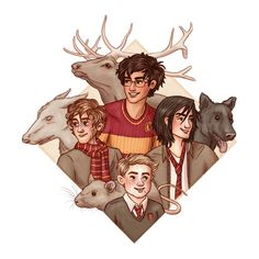The Marauders drawing art print by SusannesArt on Etsy