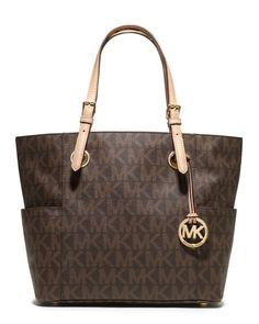 2d67795c30e3a9 MICHAEL Michael Kors - Logo-Print Signature Tote Bag, Brown Mk Handbags,  Best