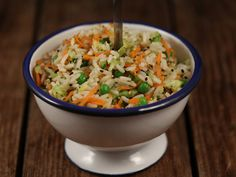 Salata de orez cu dressing de portocala si ghimbir