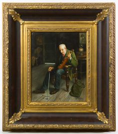 """Lot 279: J. Phillips (European, 20th Century) """"Violinist"""" Oil on Board; Undated, signed lower right, depicting a seated violinist"""