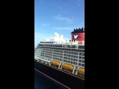 The Disney Dream as it is docked at Nassau, Bahamas and it is 40% larger...