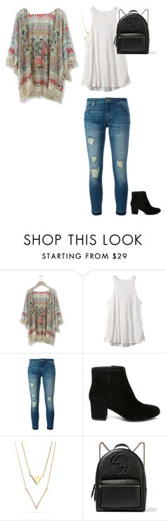 """""""Back to school outfit"""" by skylyn25 on Polyvore featuring Chicwish, RVCA, MICHAEL Michael Kors, Steve Madden and Gucci"""