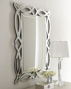 Stylish and elegant, this openwork decorative wall mirror can be hung vertically or horizontally in any room and adds the perfect finishing touch.  Modern Luxe Scallop Mirror ML-3242-S| SelectMirrorsCanada.ca