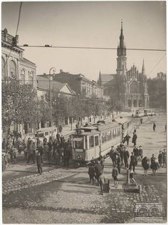 No to jeszcze raz Rynek Podgórski. Trochę później, trochę inny… Fot. Stanisław Mucha, ok. 1930 r., wł. MHK.