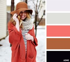 15 flawless colour combinations for hats and scarves
