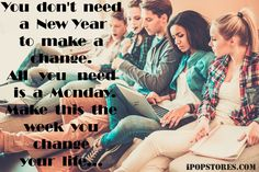 You  don't  need  a  New Year to  make  a change.All   you   need  is  a  Monday. Make  this  the week  you  change your  life.... #monday #goodmorning #coffee #coffeelove #coffeelovers #coffeeshop #coffeebreak #coffeebeans #coffeebags #coffeebrewer #coffeemaker #coffeemug #coffeemonday #coffeemachines #coffeemania #morning #morningcoffee #morningmotivation #morninginspiration #food #foodfinds #foodfinder #delicious #quotes #mondayquotes #change #ipopstores