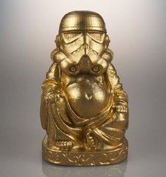"""Star Wars - Zen Stormtrooper Statue (6"""" Tall). Star Wars gift idea. http://aftcra.com/muckychris/listing/6462/star-wars-zen-stormtrooper-statue-6-tall"""